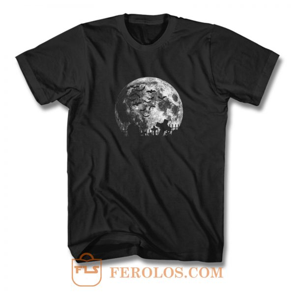 Graveyard On The Night Halloween T Shirt