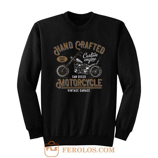 Hand Crafted Motorcycle Vintage Sweatshirt