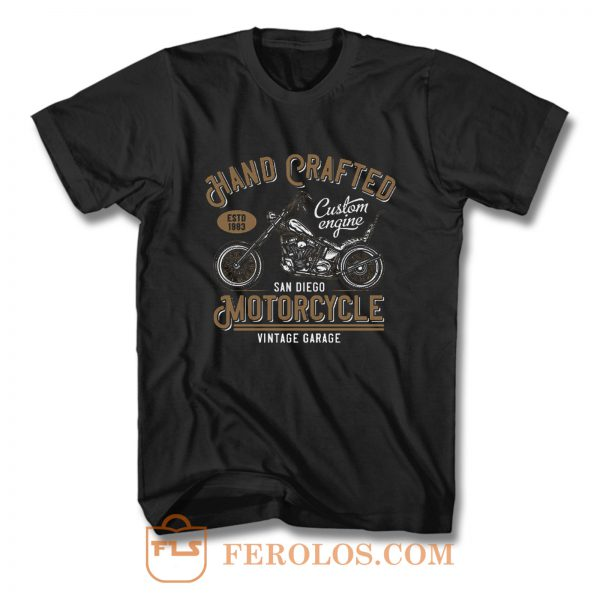 Hand Crafted Motorcycle Vintage T Shirt