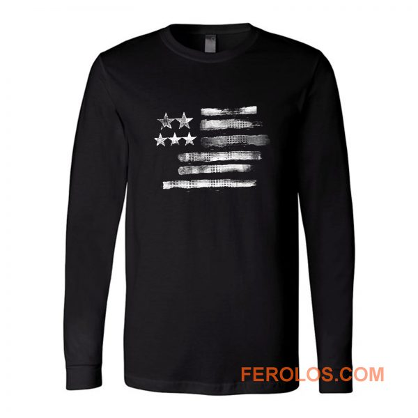 Hanes American Flag Long Sleeve