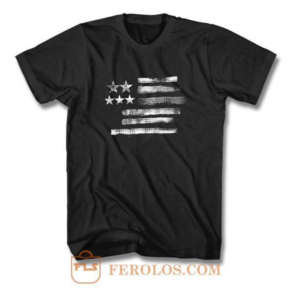 Hanes American Flag T Shirt