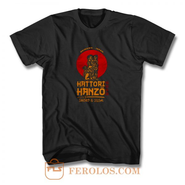 Hattori Hanzo Okinawa Sword And Sushi T Shirt