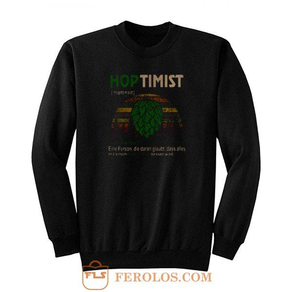 Hoptimist Definition Meaning Vintage Sweatshirt