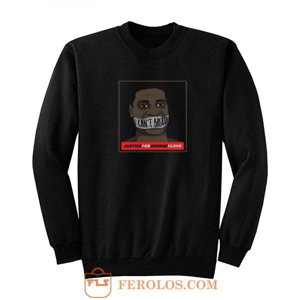 I Cant Breathe Retro George Floyd Sweatshirt