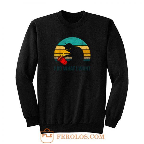 I Do What I Want Cats Vintage Sweatshirt