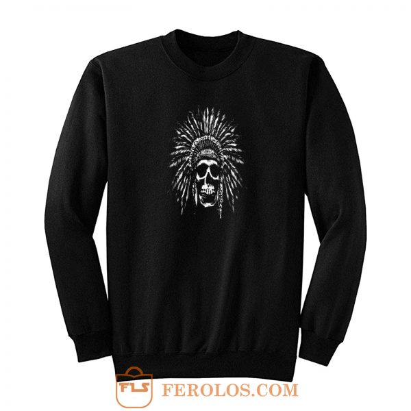 Indians Skull Natives Sweatshirt