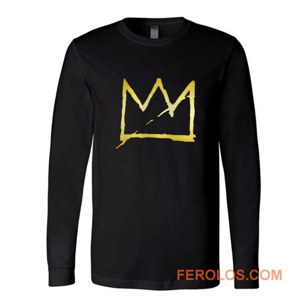 Jean Michel Basquiat Crown Abstract Long Sleeve