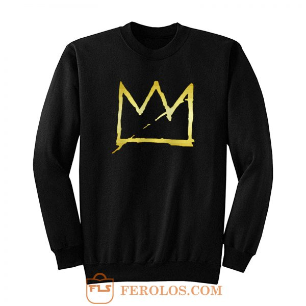 Jean Michel Basquiat Crown Abstract Sweatshirt