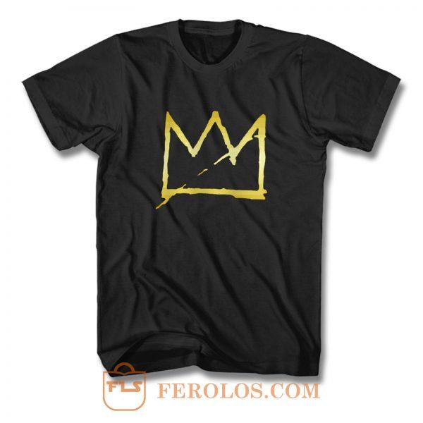 Jean Michel Basquiat Crown Abstract T Shirt