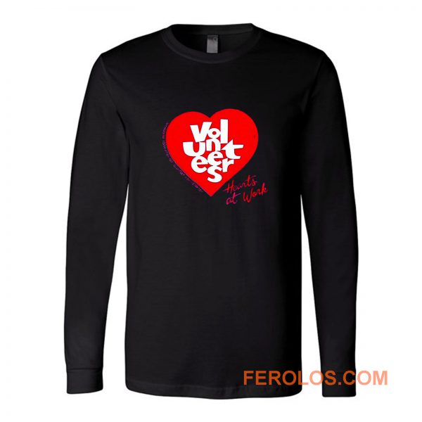 Jerzees Single Stitch Hearts At Work Long Sleeve