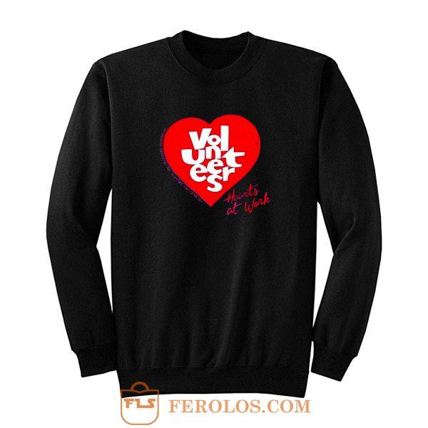 Jerzees Single Stitch Hearts At Work Sweatshirt