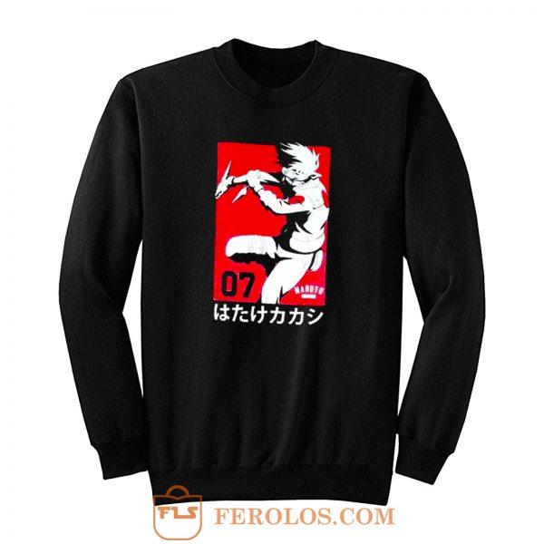 Kakashi Hatake Vintage Naruto Shippuden Anime Sweatshirt