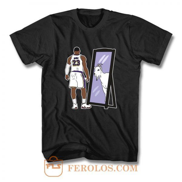 LeBron James Mirror GOAT T Shirt