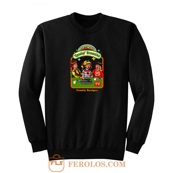 Lets Make Specials Brownies Family Recipes Sweatshirt