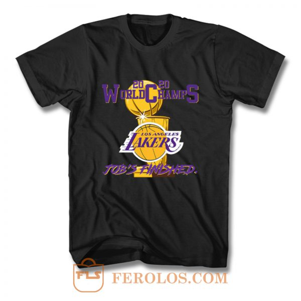 Los Angeles Lakers 2020 World Champs Jobs Finished Custom T Shirt