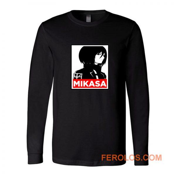 Mikasa Cover Attack On Titan Anime Long Sleeve