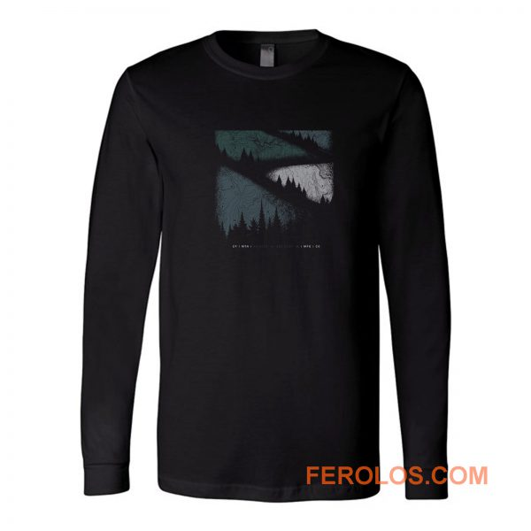 Mountain Graphic Vintage Outdoors Long Sleeve