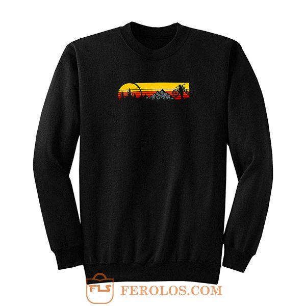 Mountain Sunset Bike Sweatshirt