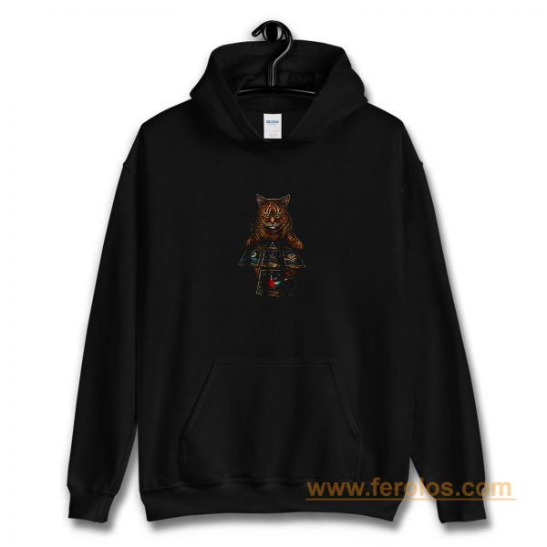 Mountain The Reader Cat Hoodie
