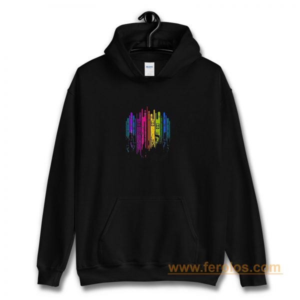Music Note Colourful Hoodie
