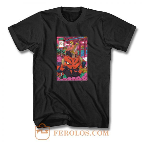Naruto And Gamabunta Naruto Shippuden Anime Manga T Shirt
