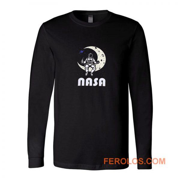 Nasa Astronaut Moon Space Long Sleeve
