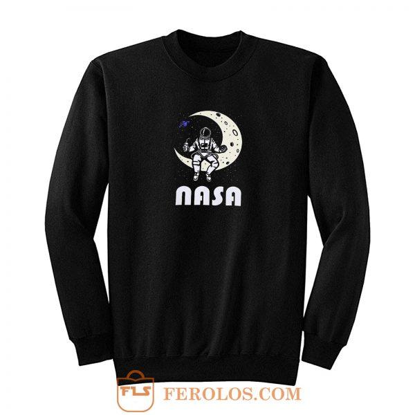 Nasa Astronaut Moon Space Sweatshirt