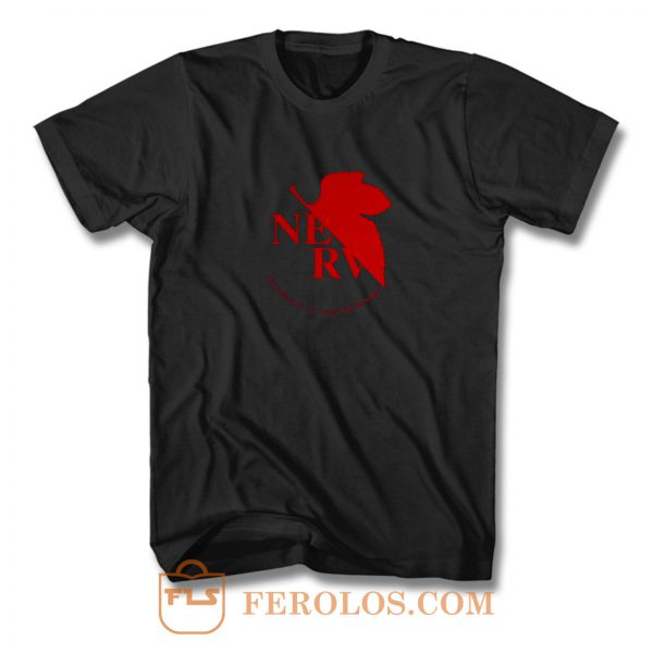 Neon Genesis Evangelion Anime Nerv Logo T Shirt