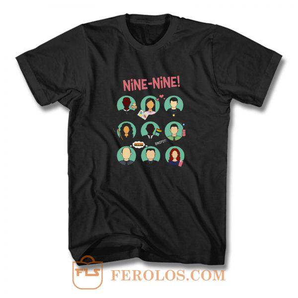New Brooklyn Nine Nine Squad Artwork Comedy Tv Series T Shirt