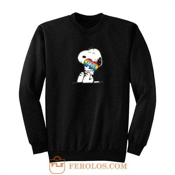 Nhs Huge Heart Snoopy Sweatshirt
