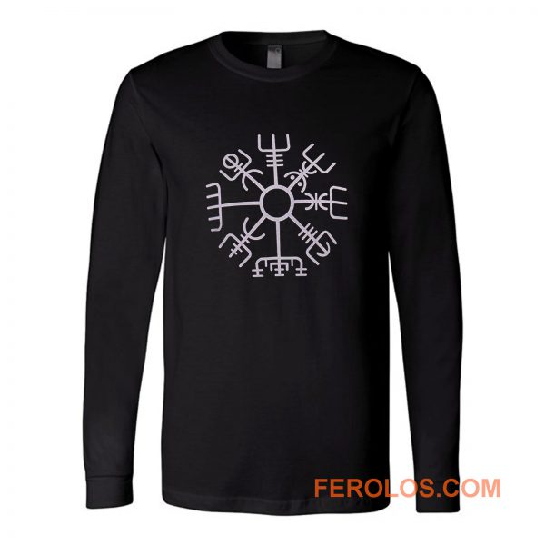 Nordic Viking Rune Compass Norse Long Sleeve