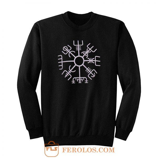 Nordic Viking Rune Compass Norse Sweatshirt
