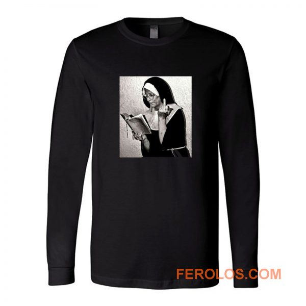 Nun Middle Finger Attitude Retro Long Sleeve