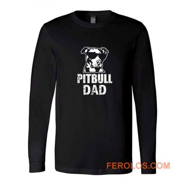 Pitbull Dad Long Sleeve