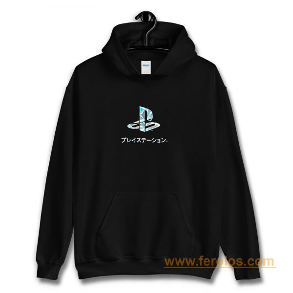 Playstation Japan Text Retro Hoodie