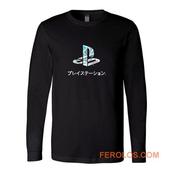Playstation Japan Text Retro Long Sleeve