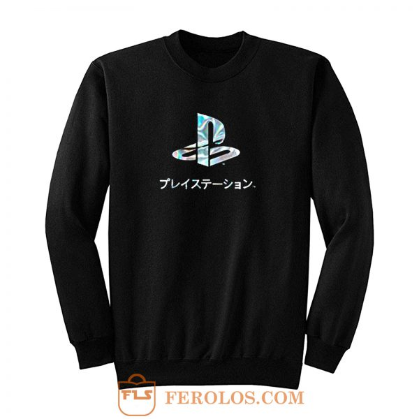 Playstation Japan Text Retro Sweatshirt