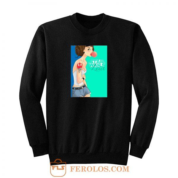 Princess Rebel Leia Hipster Gum Sweatshirt