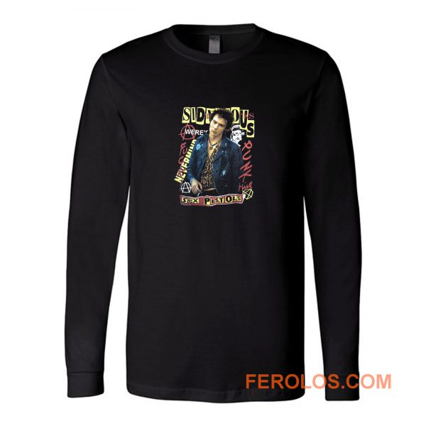 Punk Retro Sid Vicious Sex Pistols Long Sleeve