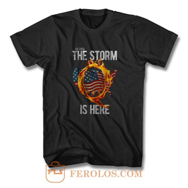 Qanon Wwg1wga Q Anon The Storm Is Here Patriotic T Shirt