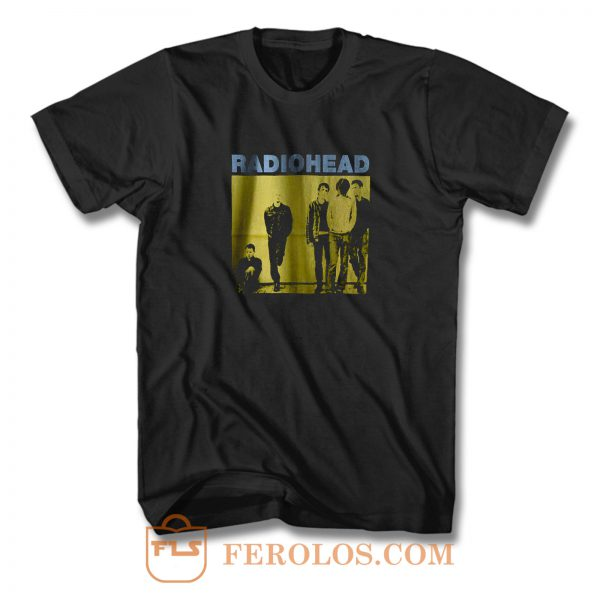 Radiohead Black Rock Band T Shirt