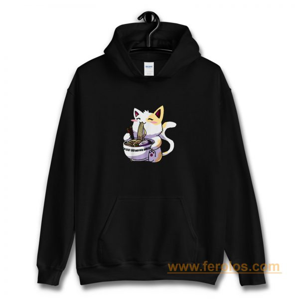 Ramen Cat Shirt Kawaii Anime Japanese Noodle Cat Lovers Funny Hoodie