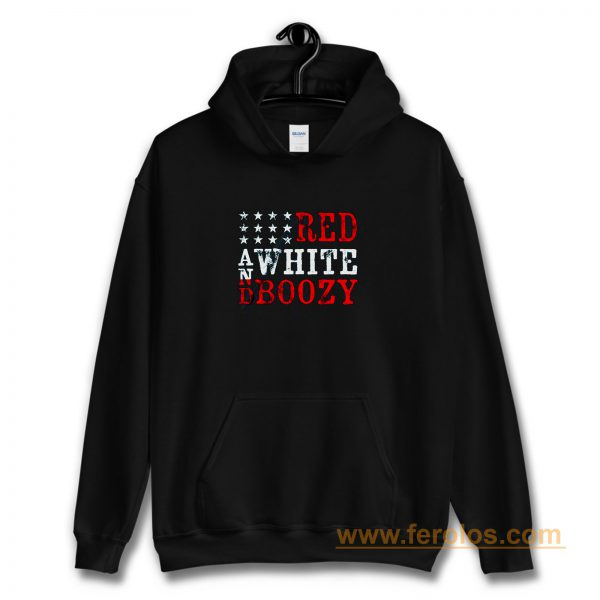 Red And White Boozy Hoodie