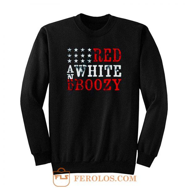 Red And White Boozy Sweatshirt
