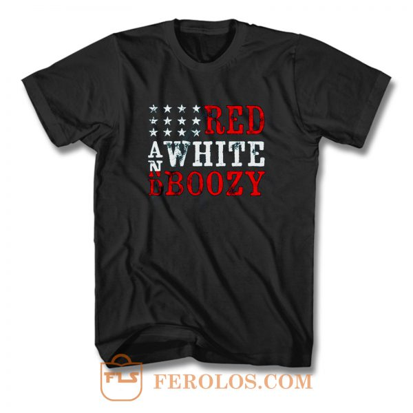 Red And White Boozy T Shirt