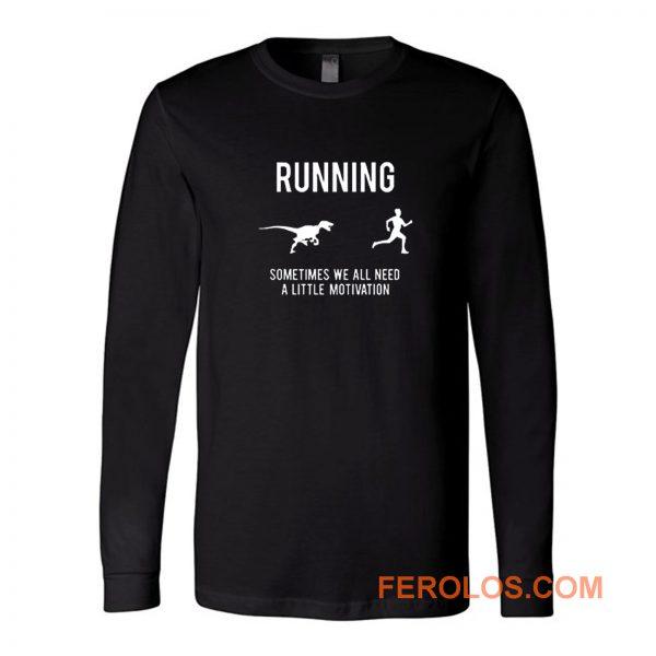 Running From T Rex Long Sleeve