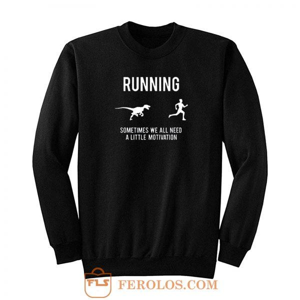 Running From T Rex Sweatshirt