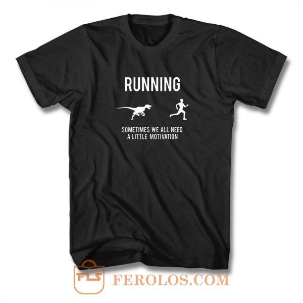 Running From T Rex T Shirt