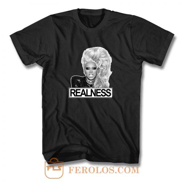 Rupaul Realness Drag Lgbt T Shirt