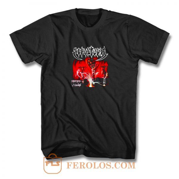 Sepultura Band Morbid Vision T Shirt